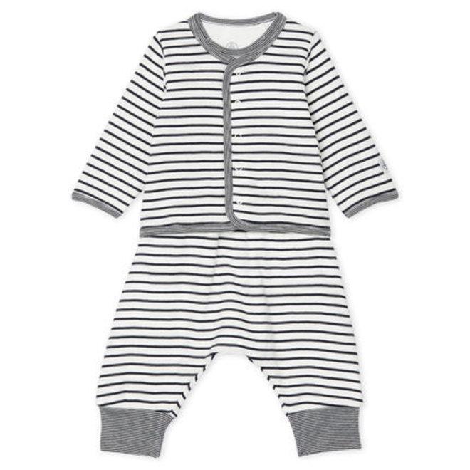 Babies' Ribbed Clothing Stripe- 3-Piece Set