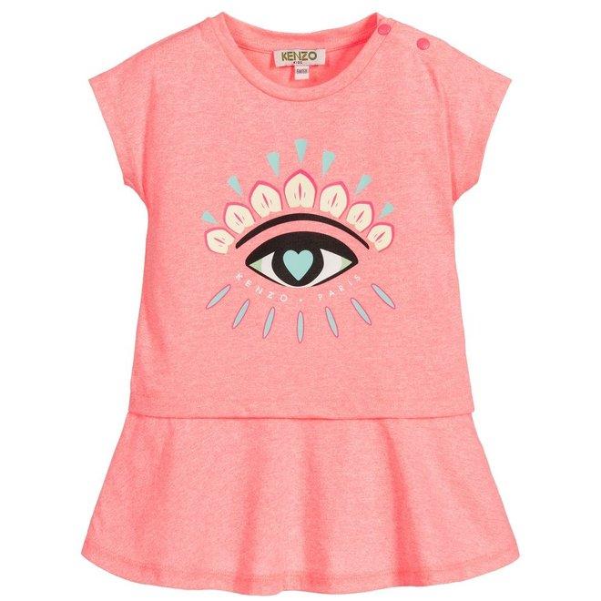 KENZO JINA Eye Print Dress
