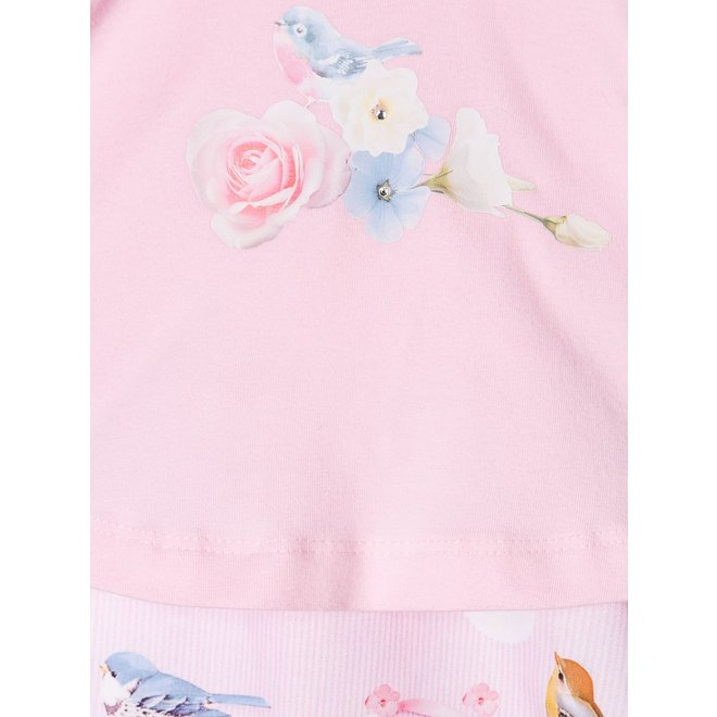 Bird and Floral Print Shorties With Gift Box
