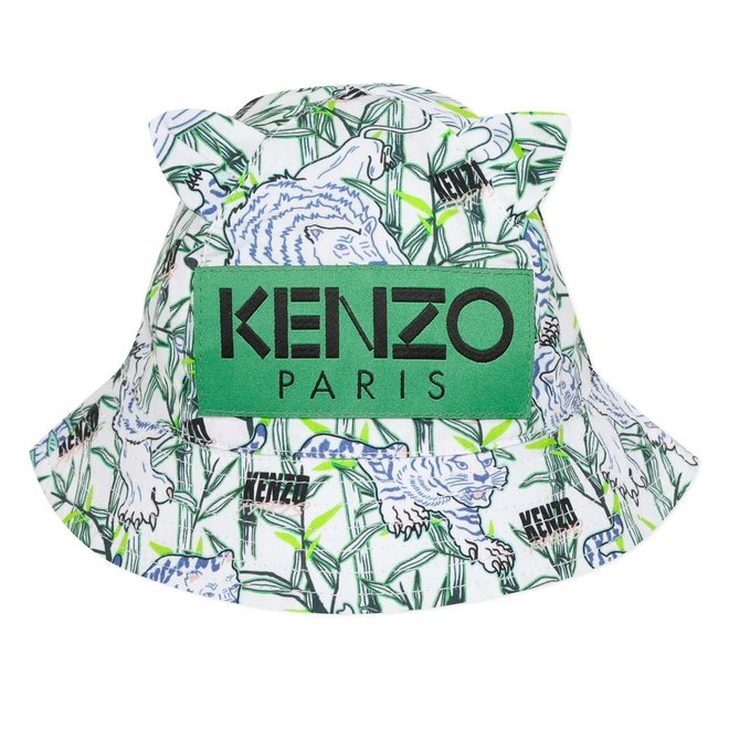 KENZO JOMPERAL Printed sun hat Green