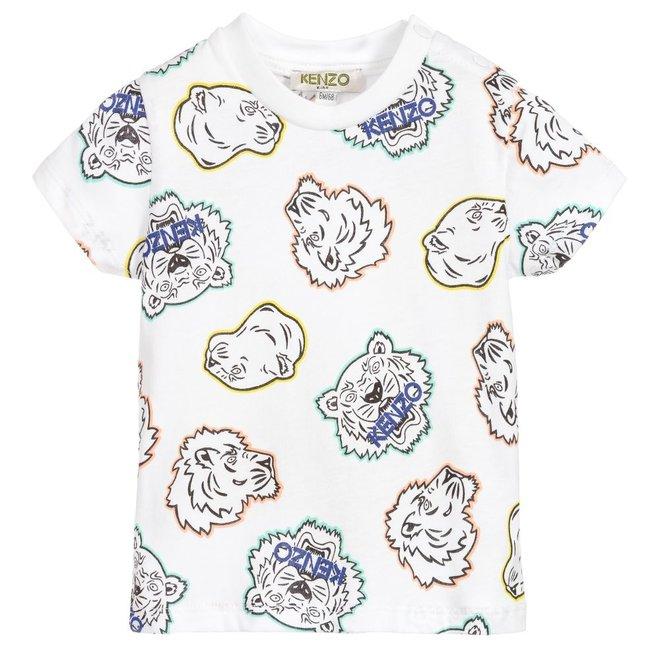 KENZO JAN BB Crazy Jungle print side buttoned T-shirt