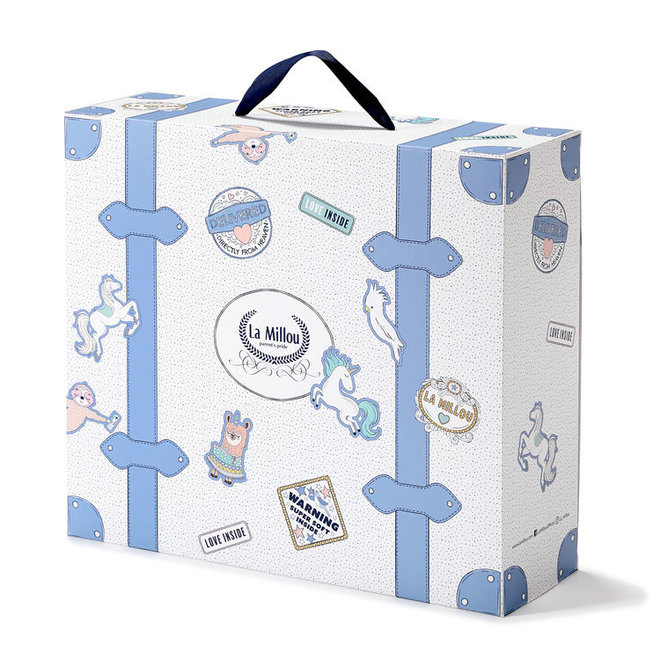 GIFT BOX SUITCASE- BLUE
