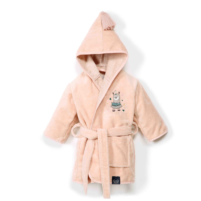 BATHROBE BAMBOO SOFT POWDER PINK - I'M A RAINBOW BABY