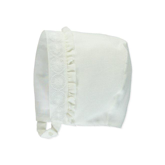 Bonnet Bapteme Pureté Du Bébé White