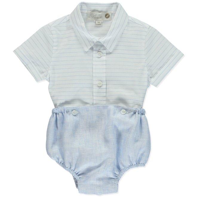 Combi + Shirt Bapteme Pureté D Blue & White