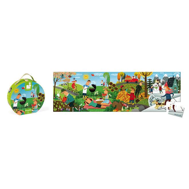 36 pc Panoramic Puzzle 4 Seasons