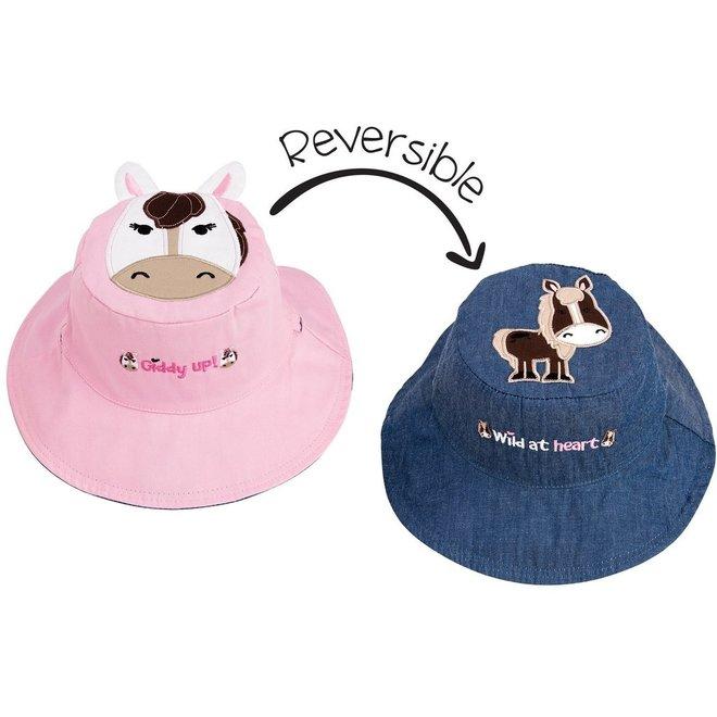 Flapjackkids Kids Sun Hat - Pony & Horse
