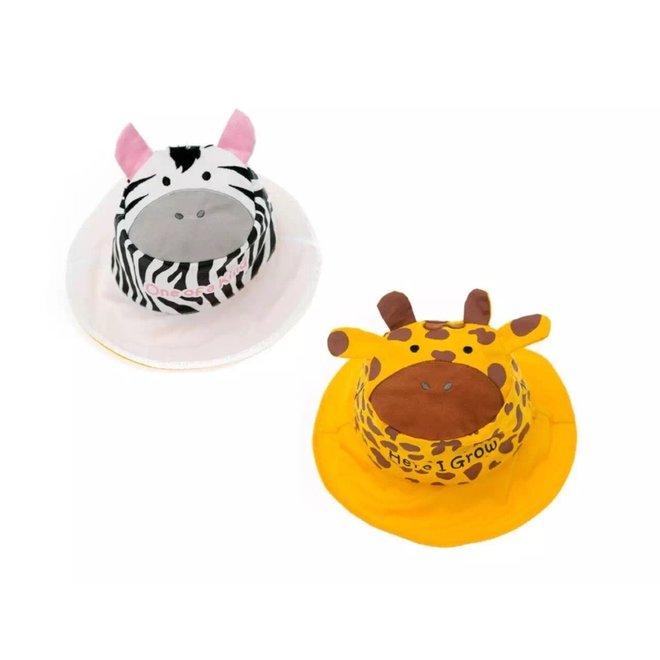 Flapjackkids Kids Sun Hat - Giraffe/Zebra