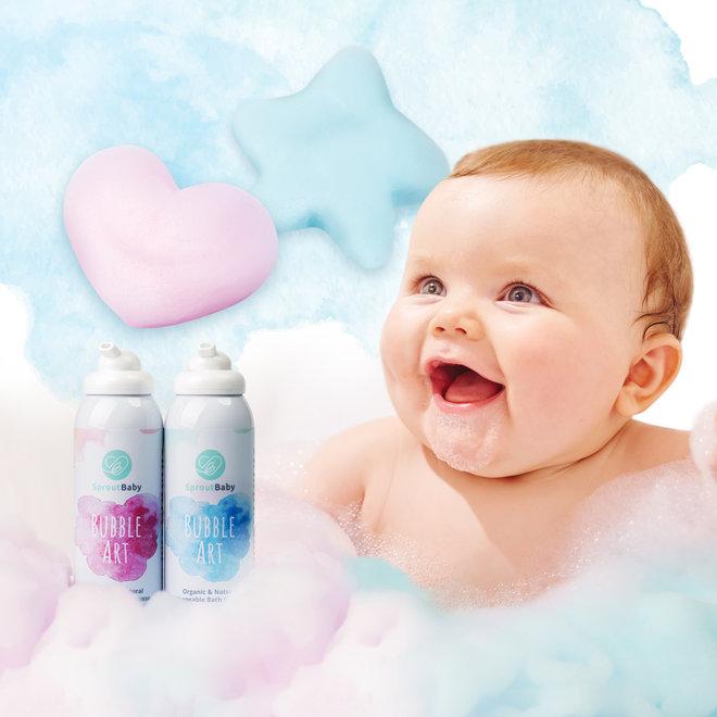Bubble Art – All Natural Shapeable Bath Mousse – Peach