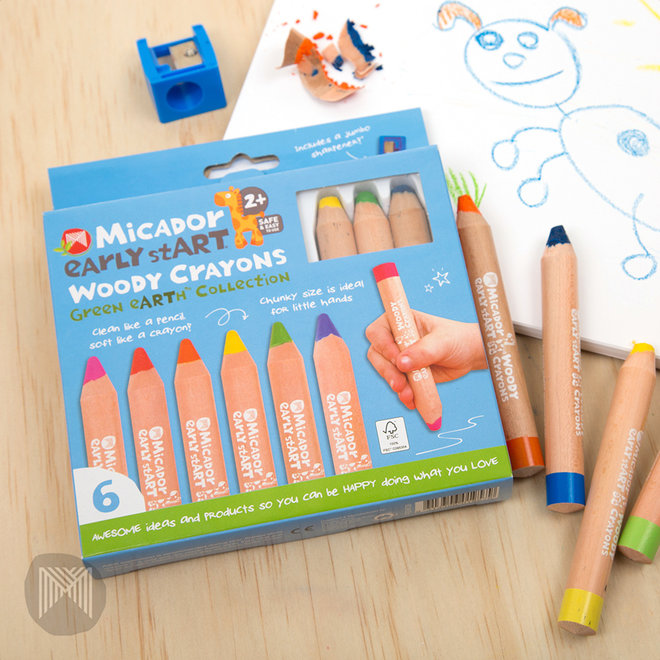 Micador early stART - Woody Crayons - FSC 100% 6pk