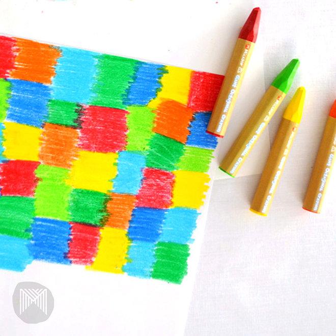 Micador jR. - Giant Crayons Octagonal, Pack 12