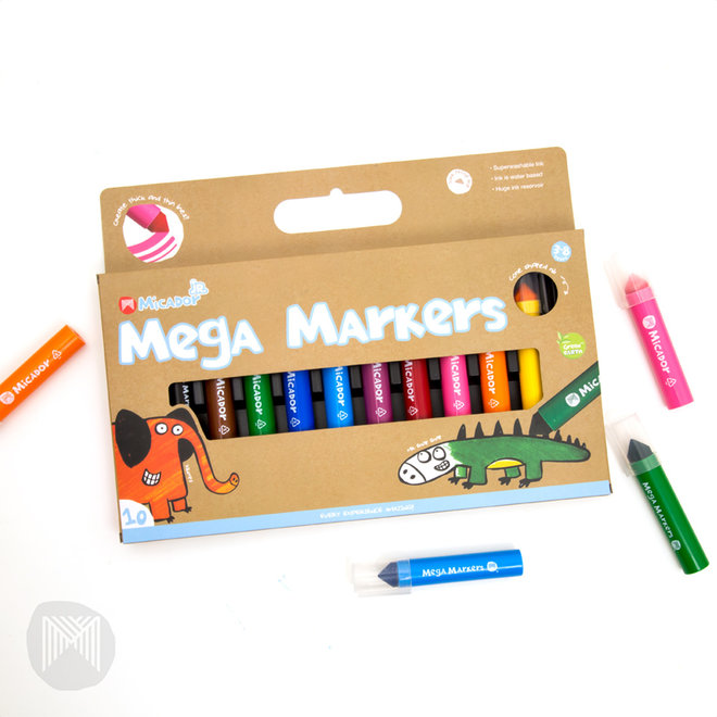 Micador jR. Mega Markers, Pack 10