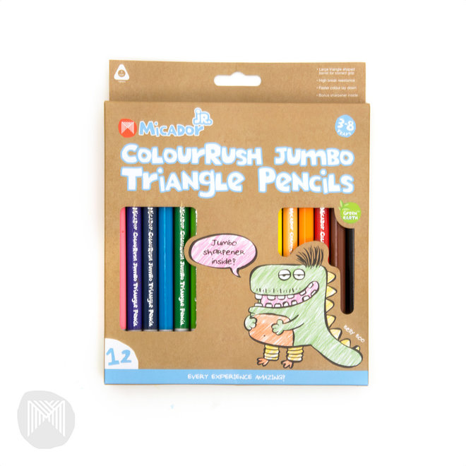 Jumbo Triangle Pencils FSC 100% 12pk