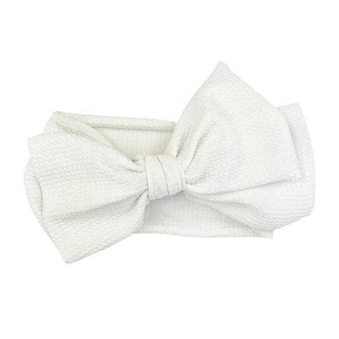 Baby Wisp - Giant Lana Bow Headband - White