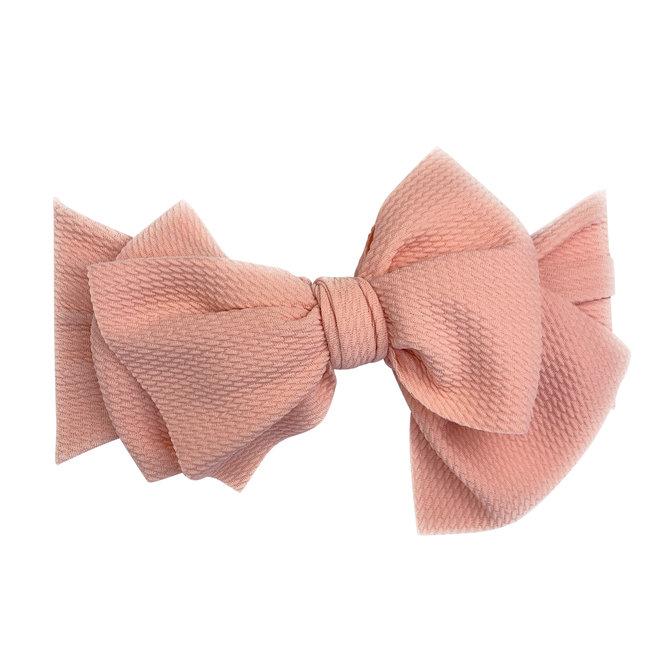 Baby Wisp - Giant Lana Bow Headband - Dusty Rose