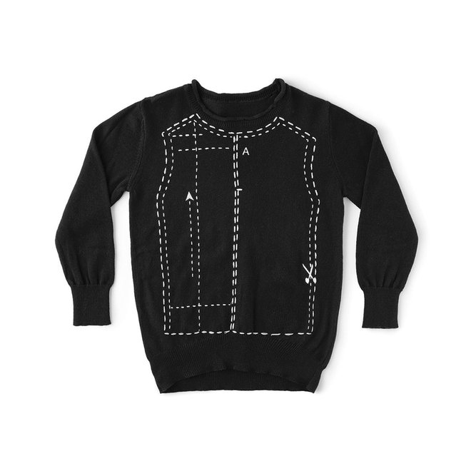Hand Made Embroidered Sewing pattern Knit