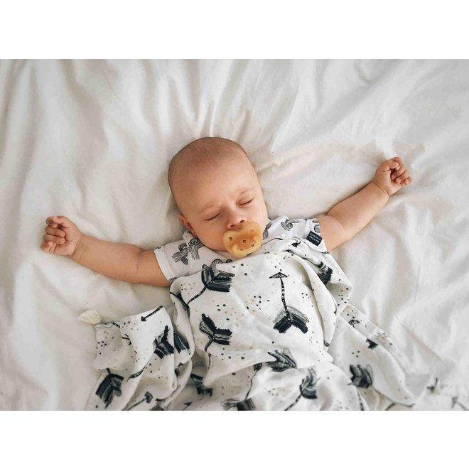 BAMBOO SWADDLE FRINGE - I'M A RAINBOW BABY