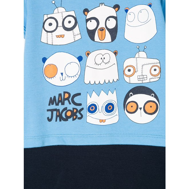 LITTLE MARC JACOBS printed shorties body-Blue Dark Blue