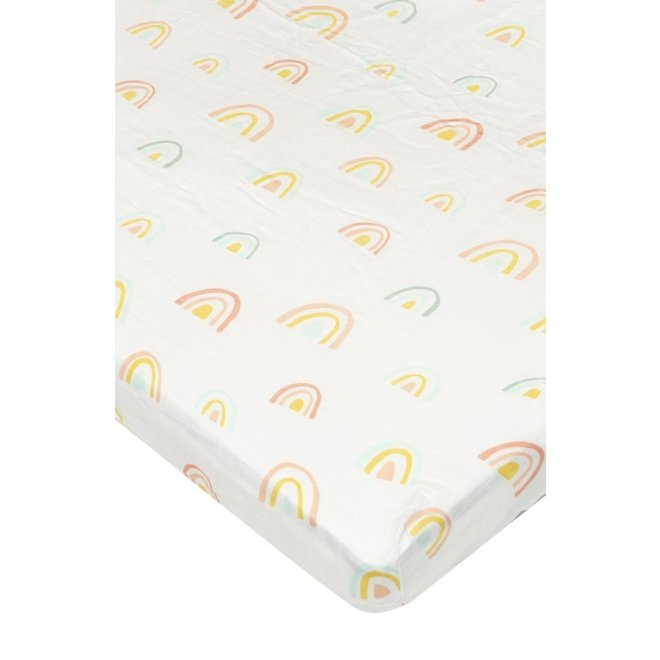 Fitted Crib Sheet Pastel Rainbow - Fitted Crib Sheet - Rainbow