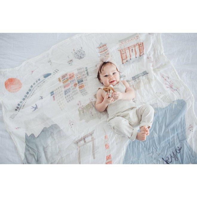Luxe Muslin Quilt Blanket Cites-Tokyo