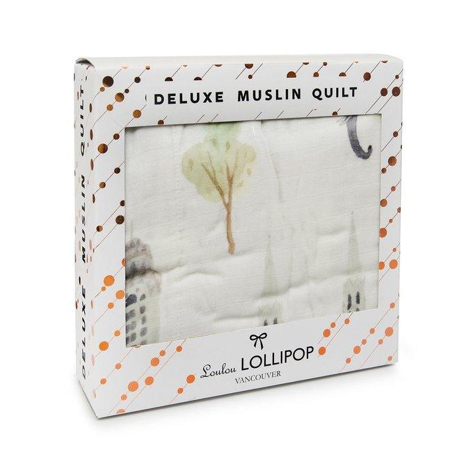 Luxe Muslin Quilt Blanket Cites-New York