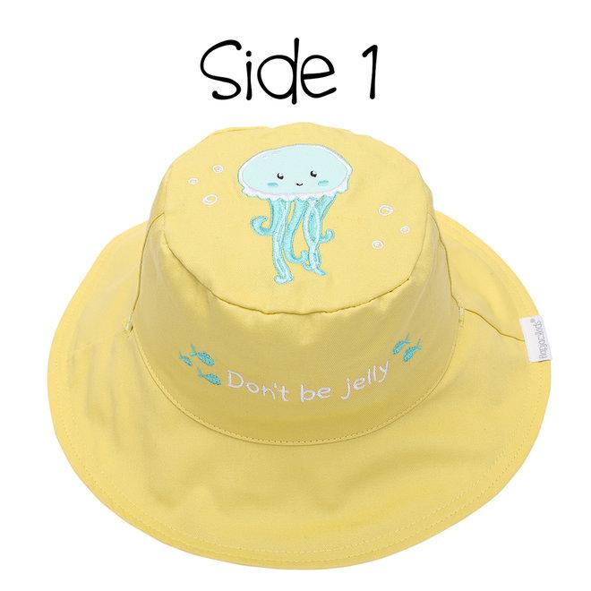 Flapjacks - Kids Sun Hat - Fish/Jellyfish