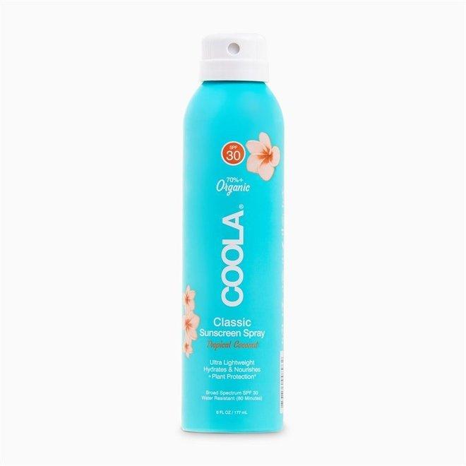 Body SPF 30 Tropical Coconut Sunscreen Spray 236mL
