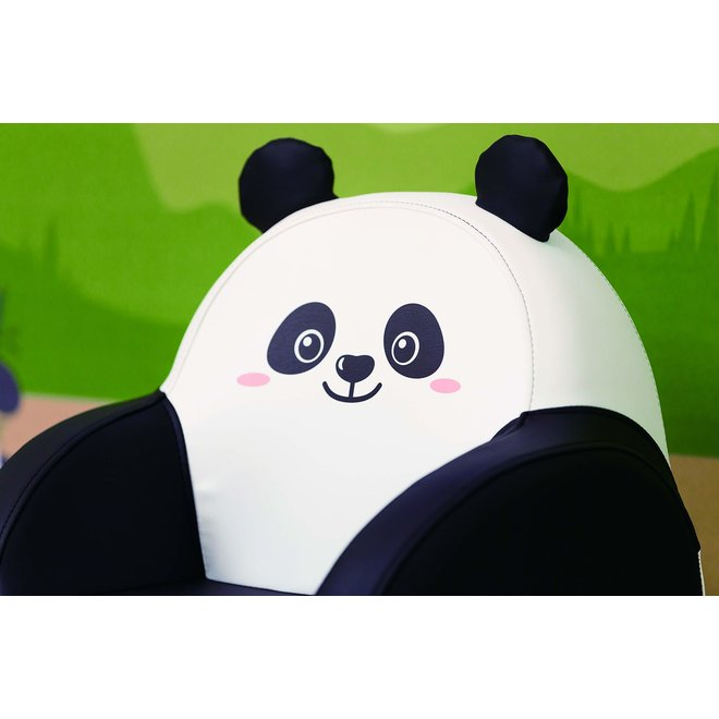 DWINGULER SOFFKIN LEATHER KIDS SOFA PANDA BEAR