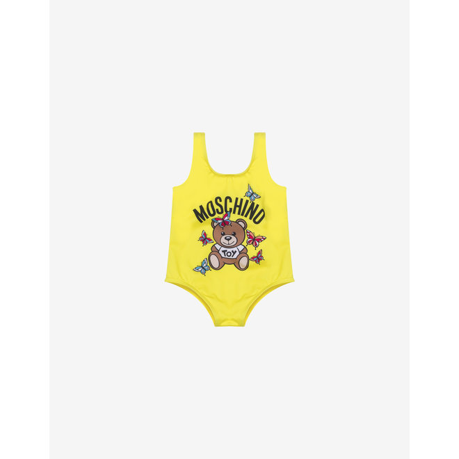 BABY GIRL BEAR SWIMSUIT WITH BUTTERFLIES