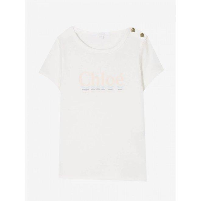 Chloe Sportsweard2Enf T-Shirt Offwhite
