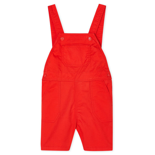 Baby Boy'S Short Dungaree Red