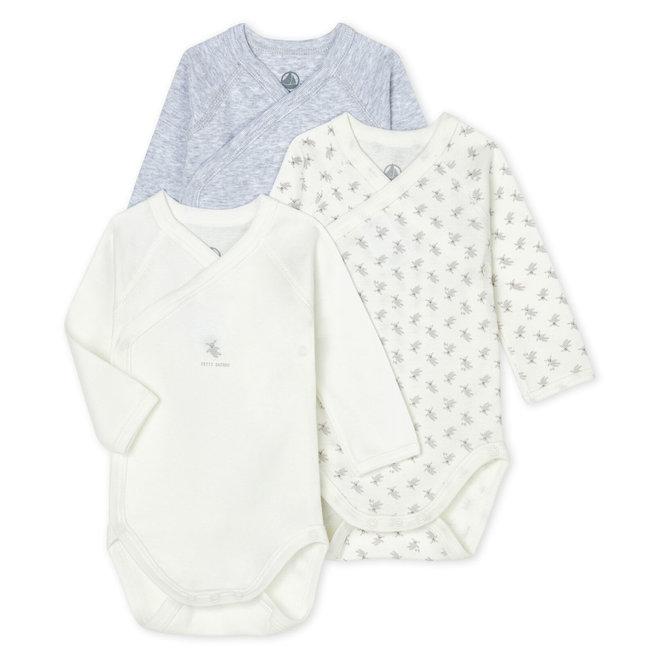 Babies' Long-Sleeved Bodysuit - 3-Piece Set Grey Bunny