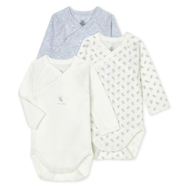 Babies' Long-Sleeved Bodysuit - 3-Piece Set Grey Bunny