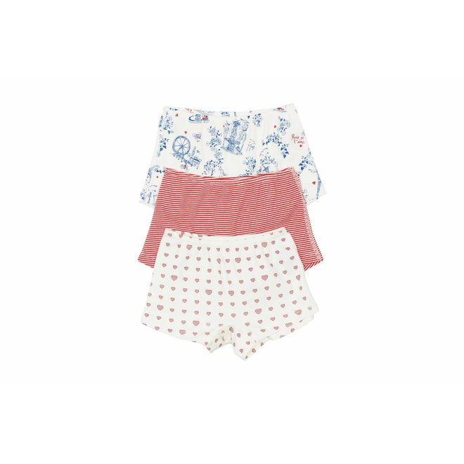 Girls Shorties 3Pieces Sets Hearts