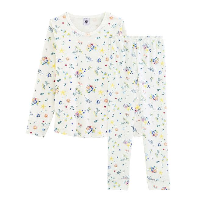 Girls'S Pyajama Long Sleeve-Flower