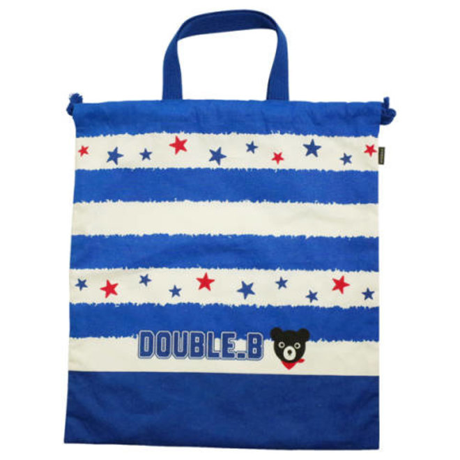 mikihouse lunchbag blue