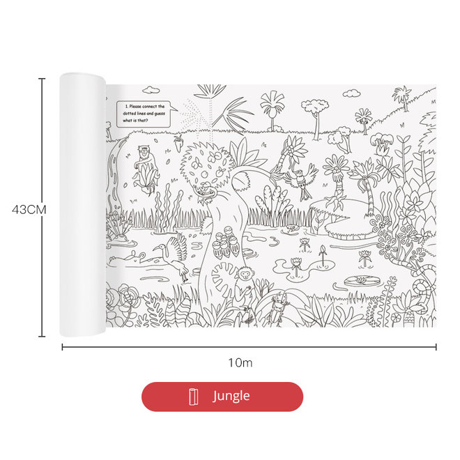 Giant colouring roll-jungle