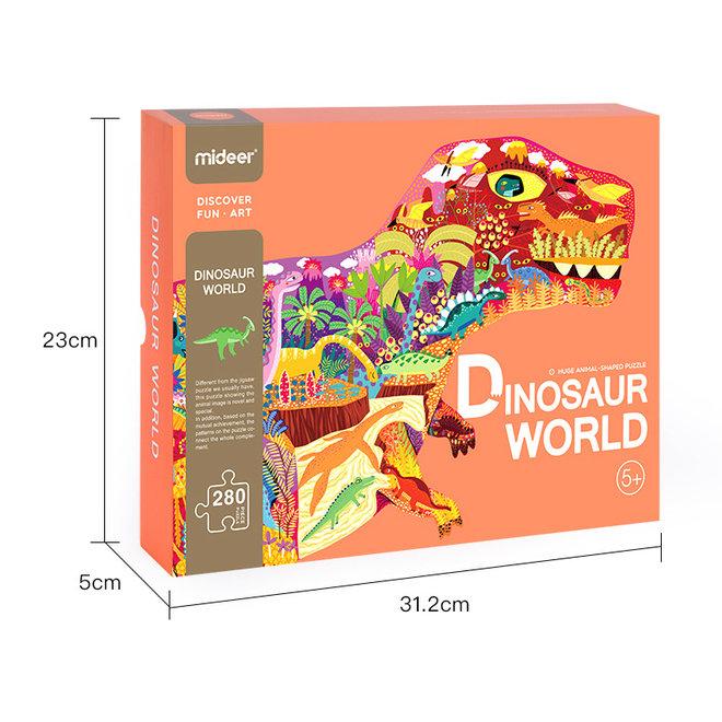 Huge animal-shaped puzzle dinosaur world
