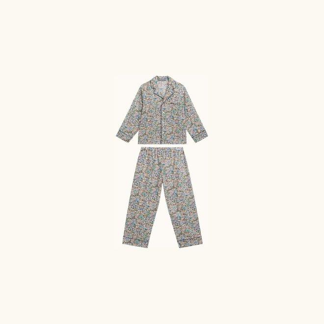 Boy Liberty Print Pajamas Lichen