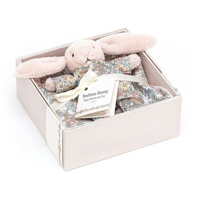 Bedtime Blossom Bunny Muslin & Toy Set