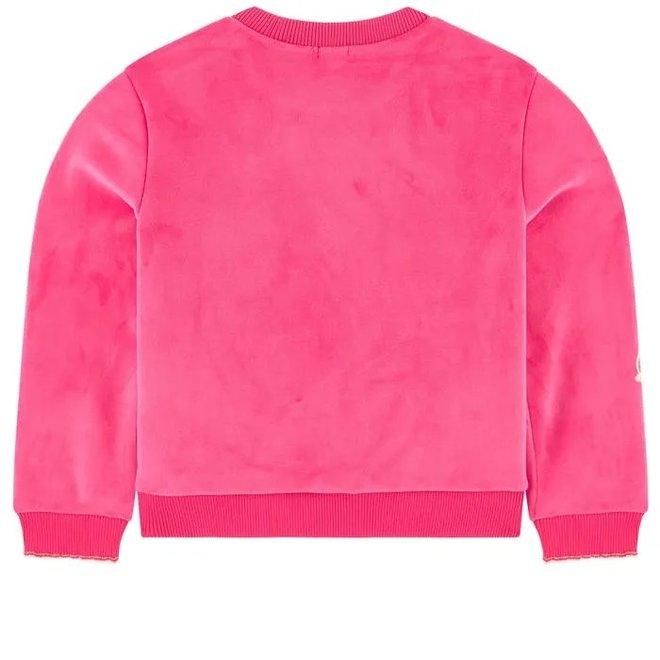 Billieblush Sweatshirt Fuchsia Velvet
