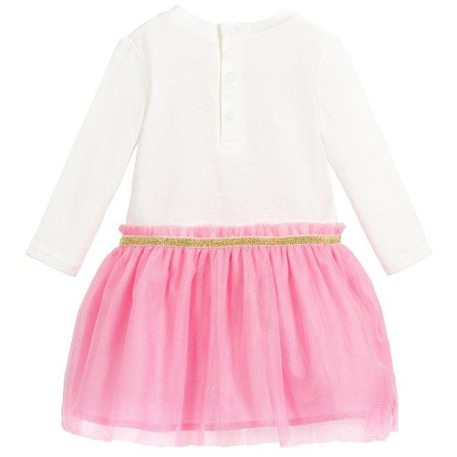 Billieblush Dress Off White Pink