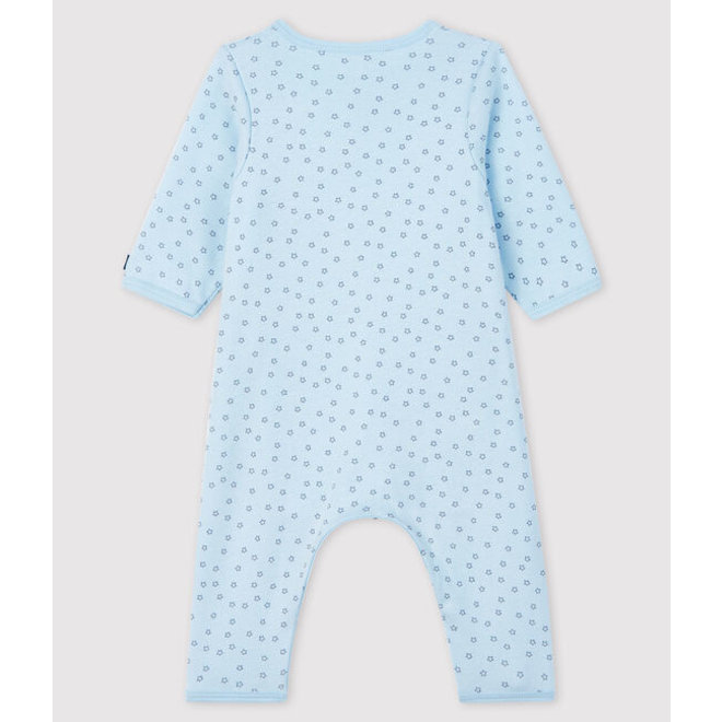 Baby Boys' Blue Starry Footless Ribbed Bodyjama