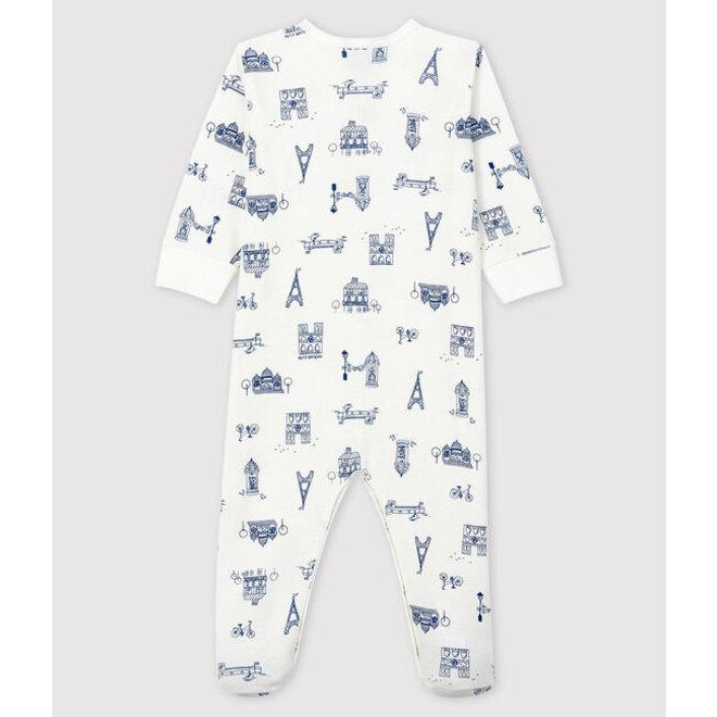 Babies' Paris Ribbed Sleepsuit-Pairs