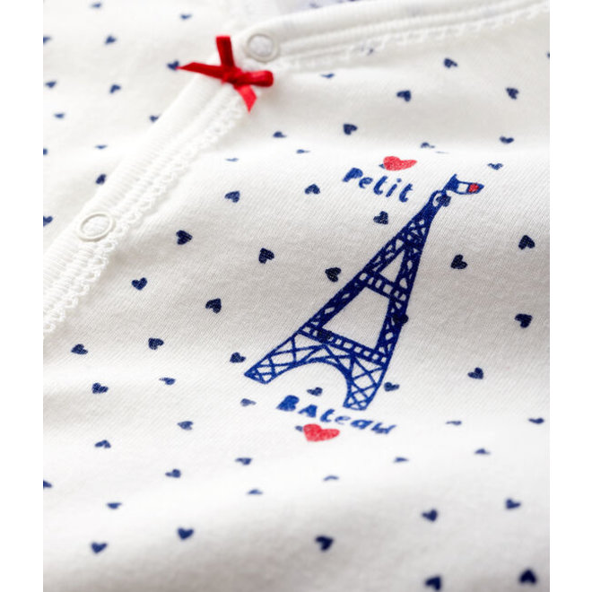 Baby Girls' Paris Ribbed Sleepsuit-Docts