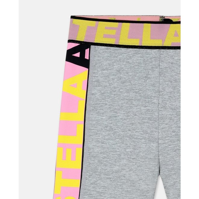Kid Girl Sport Logo Tape Leggings