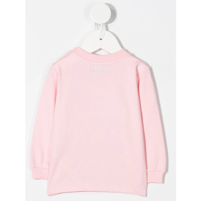 Ls Tee With Reflecter Detail-pink