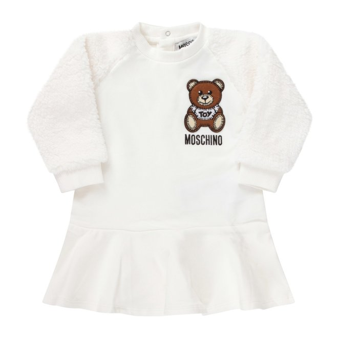 Ls Dress With Teddy Sleeve And Bear Patch Cloud