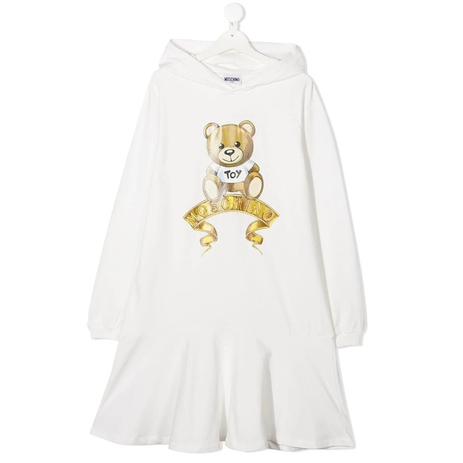Ls Hooded Dress With Toy And Logo Graphic Cloud