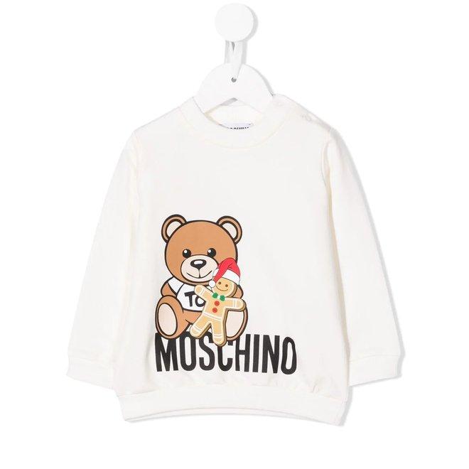 Ls Sweatshirt With Bear Holding Gingerbread Man Cloud